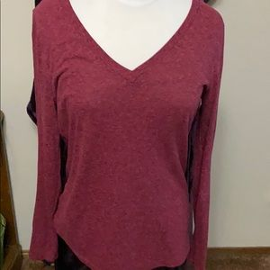 Reddish long sleeve shirt